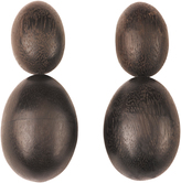 Josie Natori Acacia Wood Double Teardrop Earrings