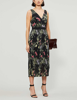 Ted Baker Highland V-neck chiffon midi dress