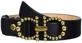 Salvatore Ferragamo Gancini Pearls Adjustable Belt (Nero 1) Women's Belts