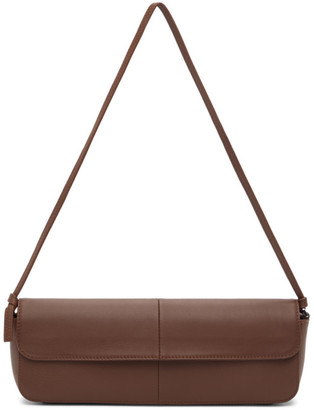 Abra Brown Big Baguette Bag