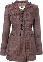 MM6 MAISON MARGIELA 70's jacquard belted jacket - women - Cotton/Polyester/Spandex/Elastane - 38