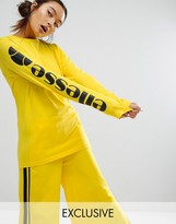 Ellesse Long Sleeve T-Shirt With Contrast Sleeve Logo