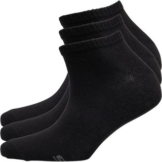 Skechers Womens Three Pack Basic Sneaker Socks Black