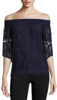 SOCIETY GIRL Society Girl 3/4 Sleeve Lace Blouse-Juniors