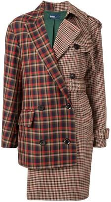 Kolor Asymmetric Check Coat