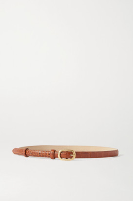 Black & Brown Net Sustain Lou Croc-effect Leather Belt