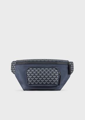 Emporio Armani Nylon Belt Bag With Monogram Details