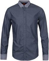Boss Orange Edipoe Navy Slim Fit Shirt