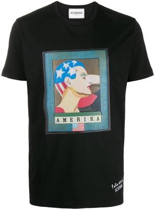Iceberg x Peter Blake Amerika cotton T-shirt