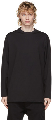 Y-3 Black Classic Logo Long Sleeve T-Shirt