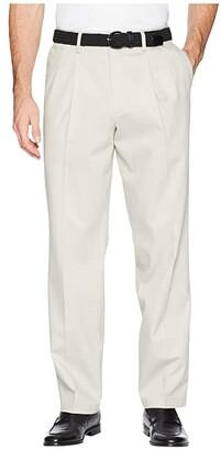 Dockers Classic Fit Signature Khaki Lux Cotton Stretch Pants D3 - Pleated (Black) Men's Casual Pants
