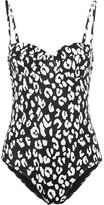 Prism St Barts Leopard-print Underwired Swimsuit - Black