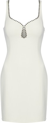 Alexander Wang Bead-trimmed Crepe Mini Dress