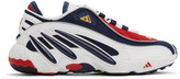 adidas White and Navy FYW 98 Sneakers