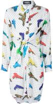 Jeremy Scott water gun print shirt dress