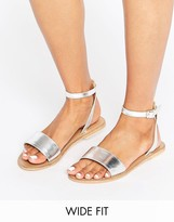 Asos FLIQUE Wide Fit Flat Sandals