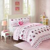 Mi Zone Kids Pink Lady Ladybug Coverlet Set
