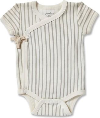 Pehr Stripes Away Organic Cotton Wrap Bodysuit