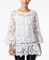 Alfani Sheer Lace Top, Only at Macy's