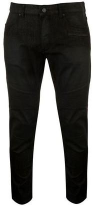 Armani Exchange Armani Mens J27 Biker Washed Slim Jeans