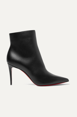 Christian Louboutin So Kate Booty 85 Leather Ankle Boots - Black