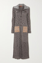 Thumbnail for your product : Missoni Space-dyed Crochet-knit Cardigan - Gray