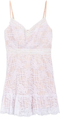 Jump Grid Lace Mini Dress