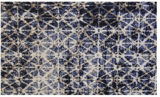 Pottery Barn Rayne Indoor/Outdoor Washable Mat - Blue Multi