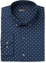 Bar III Men's Slim-Fit Midnight Snow Print Dress Shirt, Only at Macy's