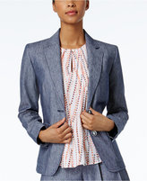 Nine West Two-Button Chambray Blazer