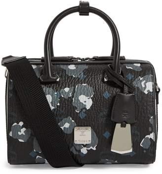 MCM Essential Floral Leopard Boston Bag