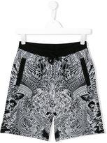 Philipp Plein printed jogging shorts - kids - Cotton - 16 yrs