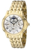 Accurist Men's Quartz Watch with Silver Dial Chronograph Display and Gold Stainless Steel Bracelet Gmt120P