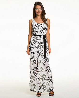 Le Château Tropical Print Chiffon Maxi Dress