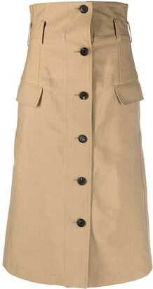 Victoria Beckham Buttoned Mid-Length Skirt