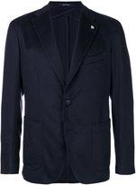 Tagliatore pin detail blazer - men - Cupro/Cashmere - 46