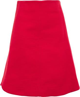Carven Flared Woven Skirt