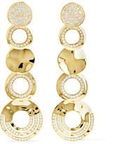 Ippolita Classico Stardust 18-karat Gold Diamond Earrings