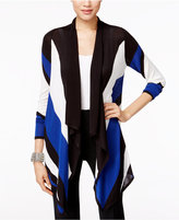 INC International Concepts Colorblocked Waterfall Cardigan, Created for Macy's