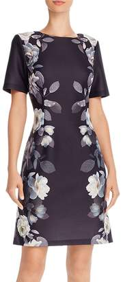 Adrianna Papell Shadow Roses Shift Dress
