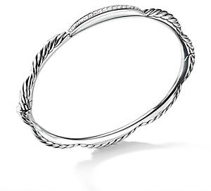 David Yurman Tides Single Station Bracelet with Diamonds in Sterling Silver