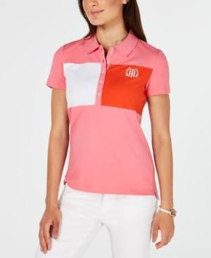 Tommy Hilfiger Short-Sleeve Colorblocked Polo Top, Created for Macy's