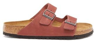Birkenstock Arizona Grained Nubuck-leather Sandals - Red
