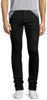 Alexander McQueen Clean-Denim Skinny Jeans with Skull Hip Button, Black