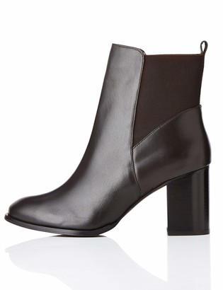 Find. High Heeled Leather Chelsea Boots Brown) 6 UK