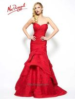 Mac Duggal Evening Gowns - 80583 R Bustier Gown In Deep Red