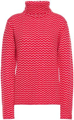 Perfect Moment Jacquard-knit Merino Wool Turtleneck Sweater