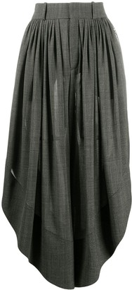 Chloé Prince of Wales check twill midi skirt