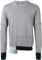 Oamc contrast cuff sweater - men - Cotton - L