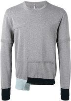Oamc contrast cuff sweater - men - Cotton - S